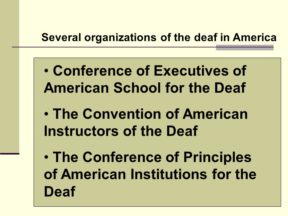 Conference of Executives of American School for the Deaf