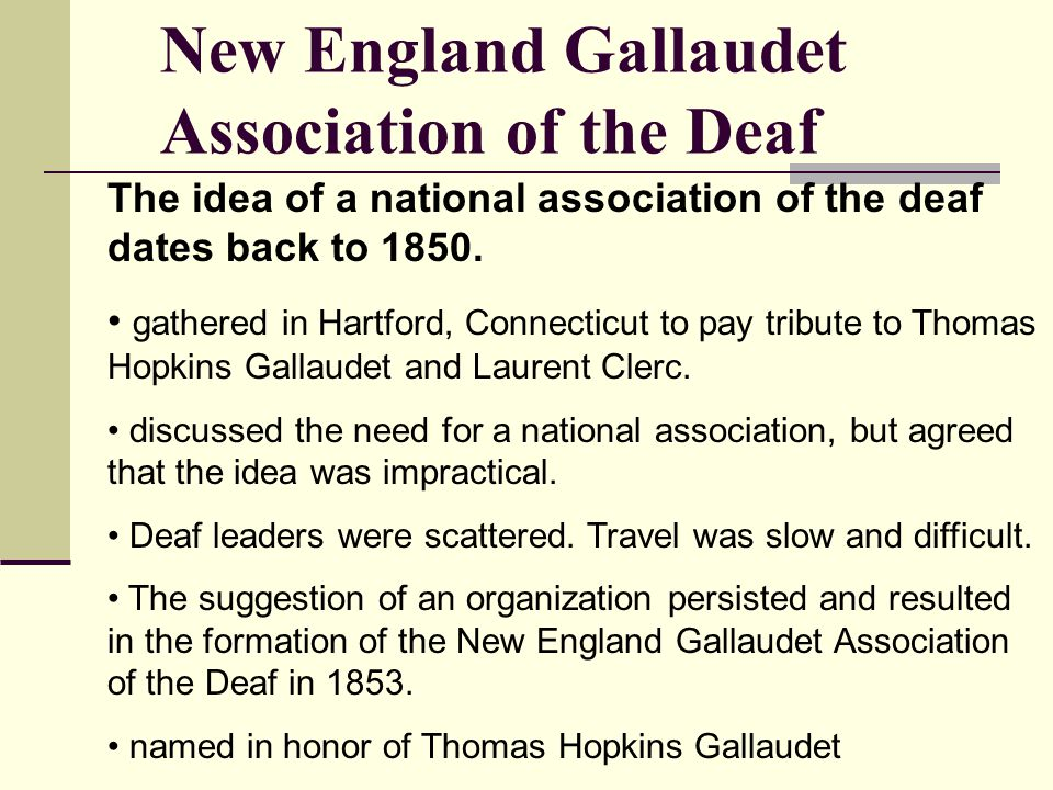 New England Gallaudet Association of the Deaf