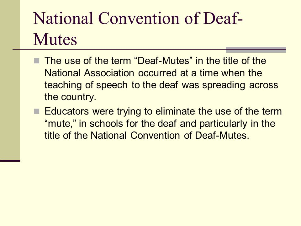 National Convention of Deaf-Mutes