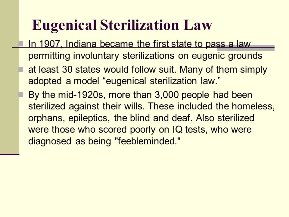 Eugenical Sterilization Law