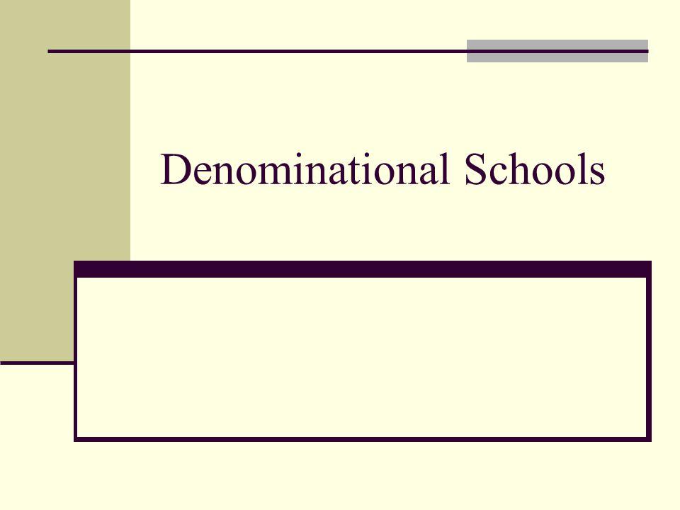 Denominational Schools