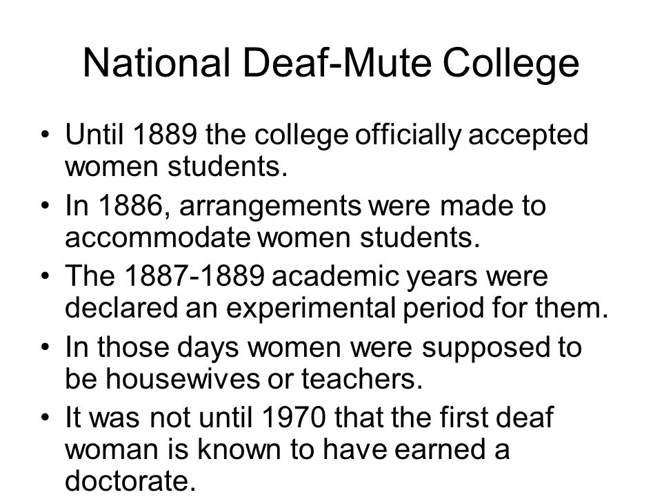National Deaf-Mute College