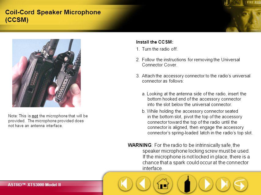 Coil-Cord Speaker Microphone (CCSM)