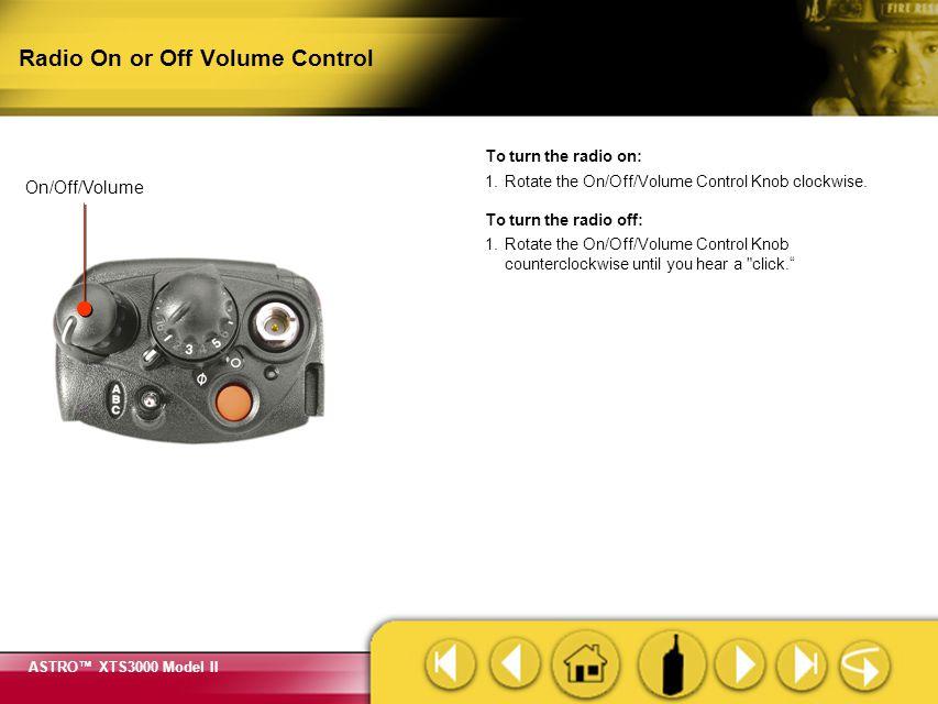 Radio On or Off Volume Control