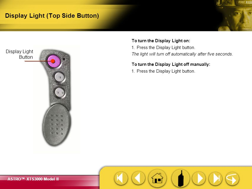 Display Light (Top Side Button)