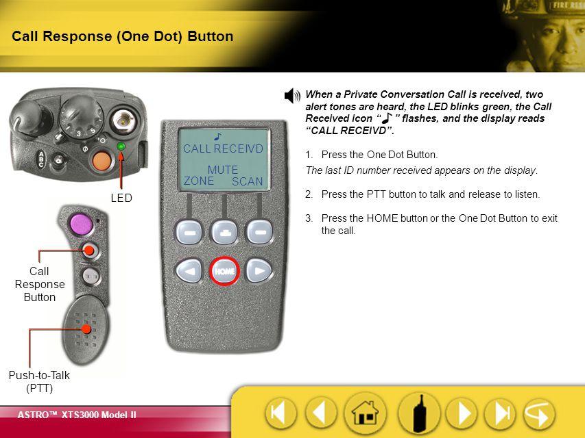 Call Response (One Dot) Button