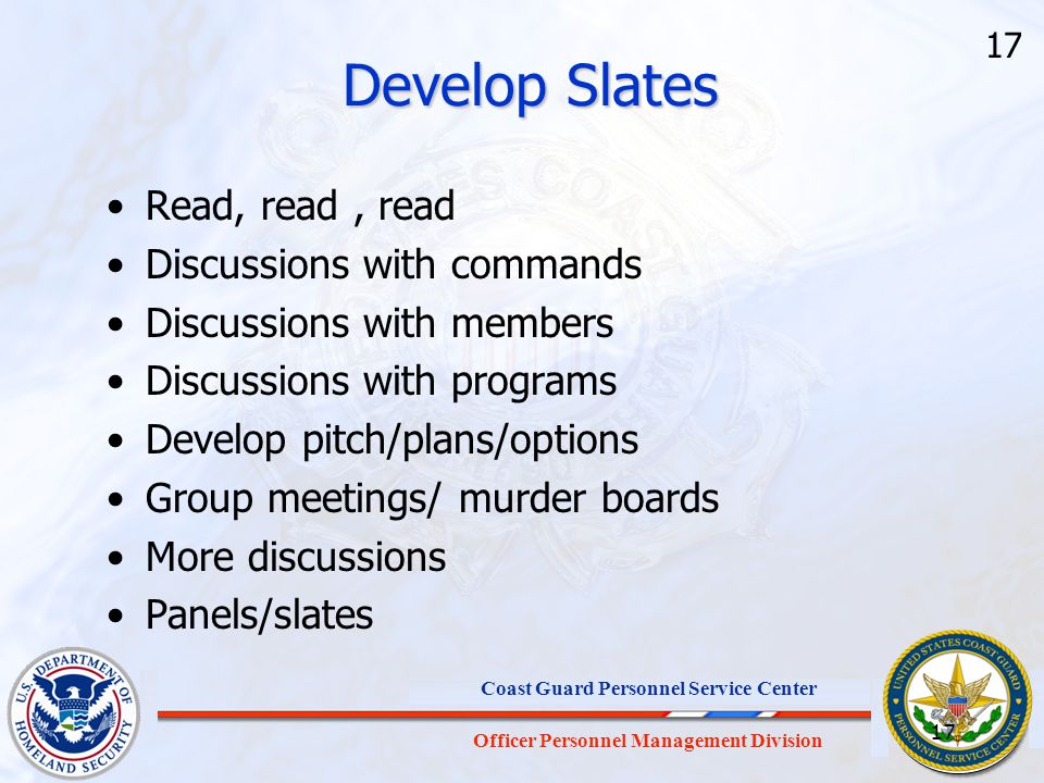 Develop Slates Read, read , read Discussions with commands