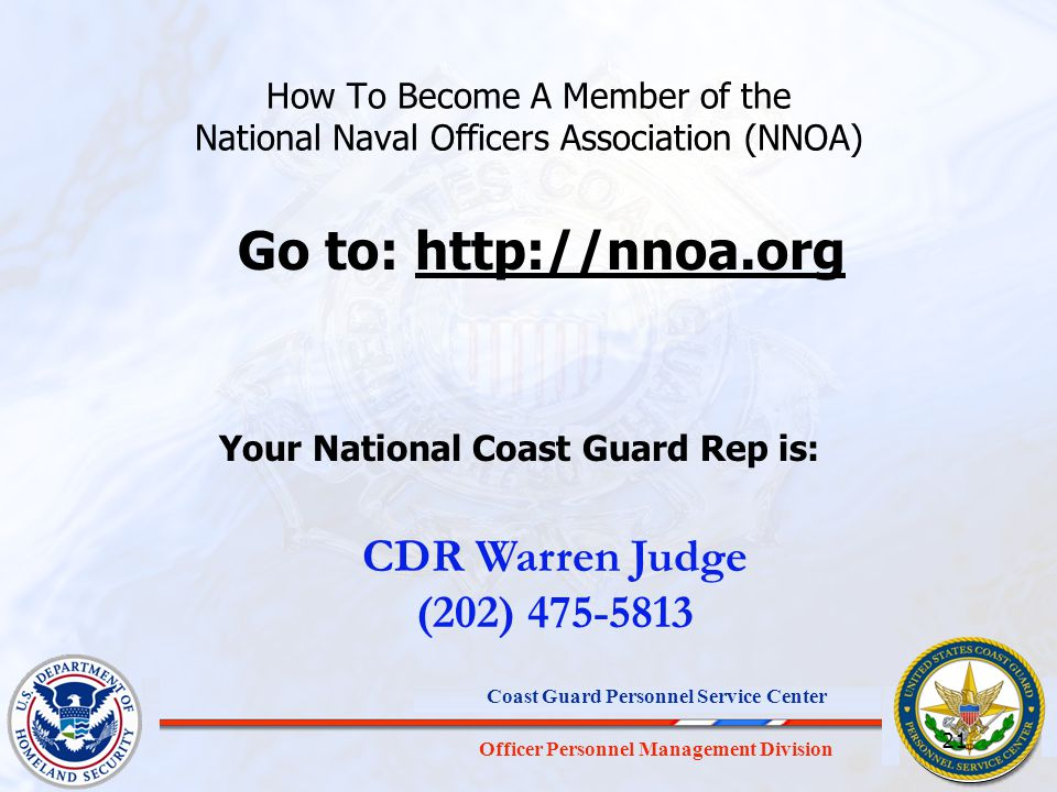 Your National Coast Guard Rep is: