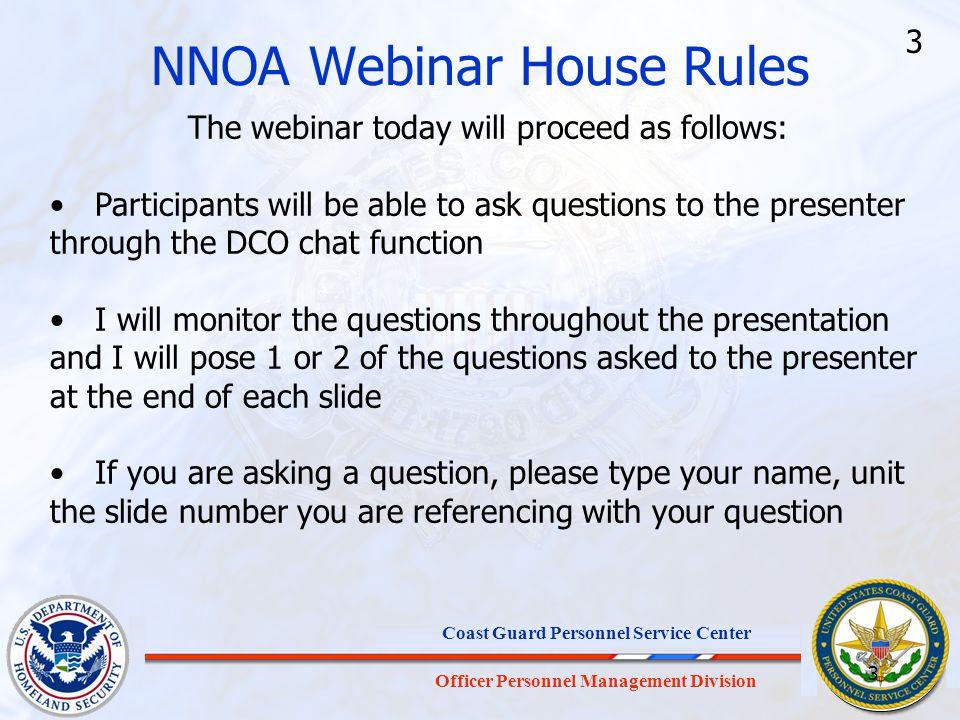 NNOA Webinar House Rules