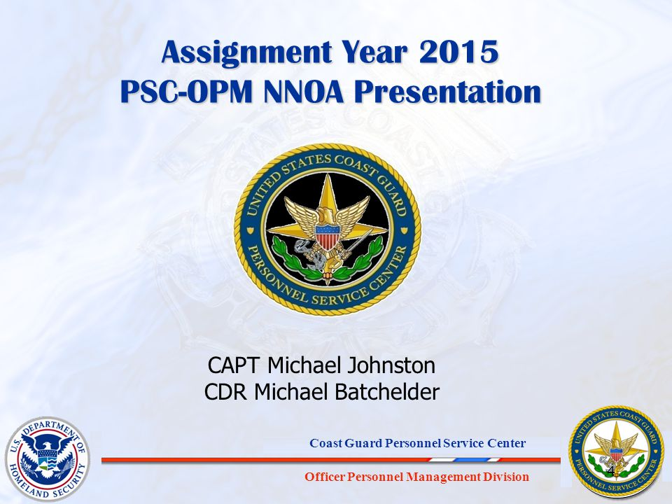 Assignment Year 2015 PSC-OPM NNOA Presentation