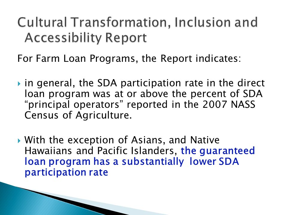 Cultural Transformation, Inclusion and Accessibility Report