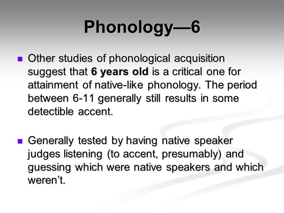 Phonology—6