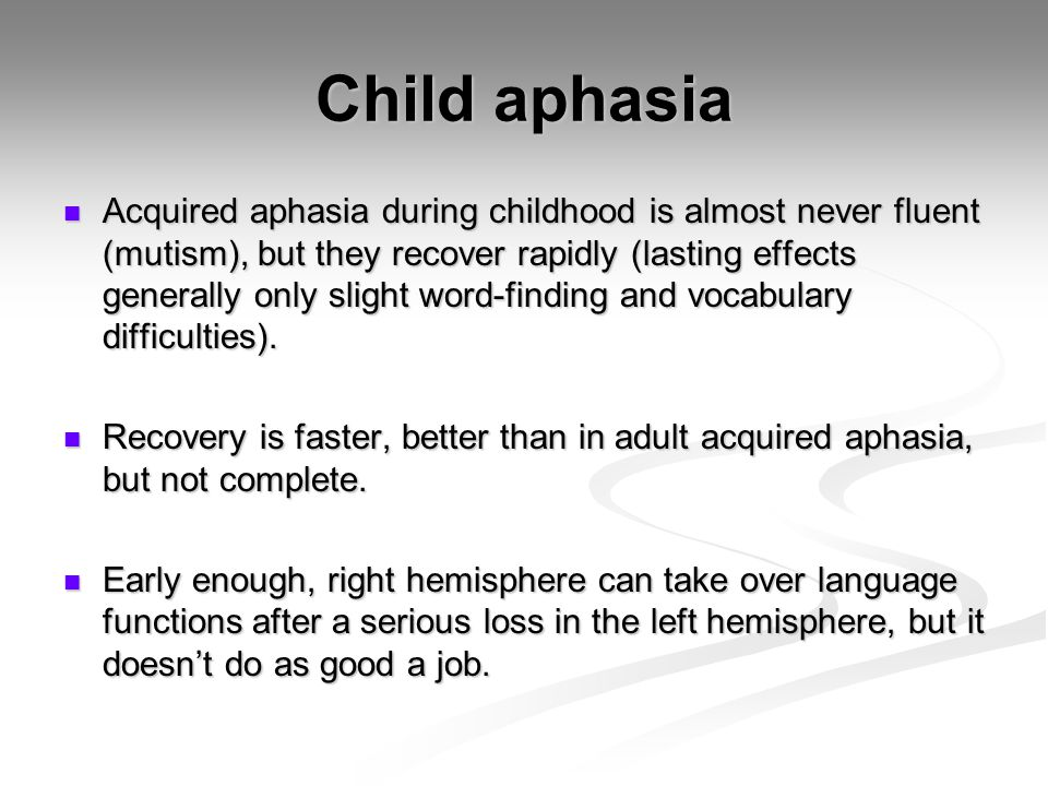 Child aphasia