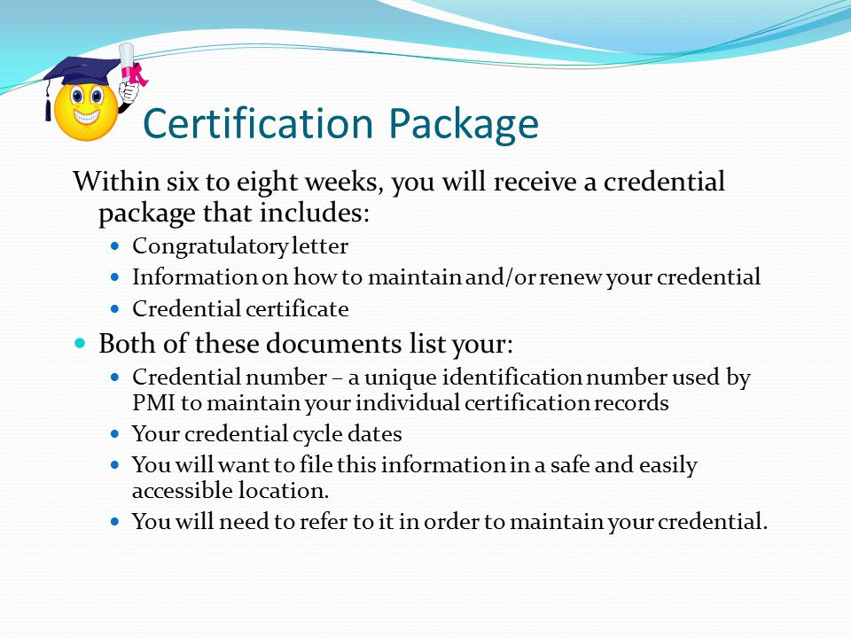 Certification Package