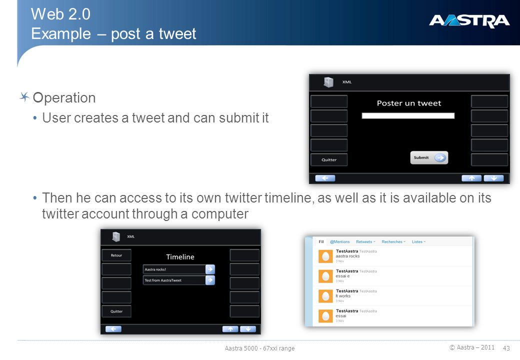 Web 2.0 Example – post a tweet