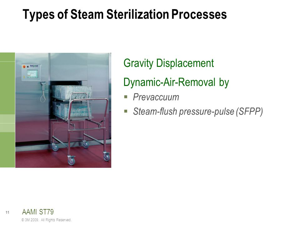 Types of Steam Sterilization Processes