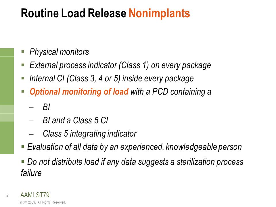 Routine Load Release Nonimplants