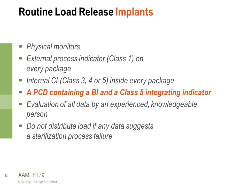 Routine Load Release Implants