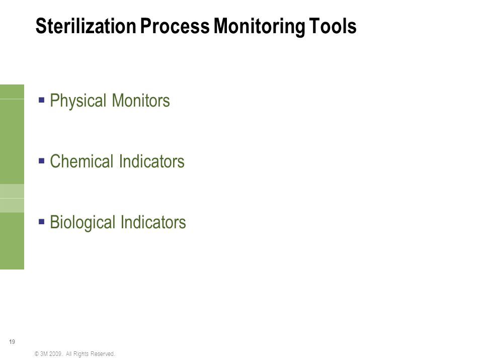 Sterilization Process Monitoring Tools