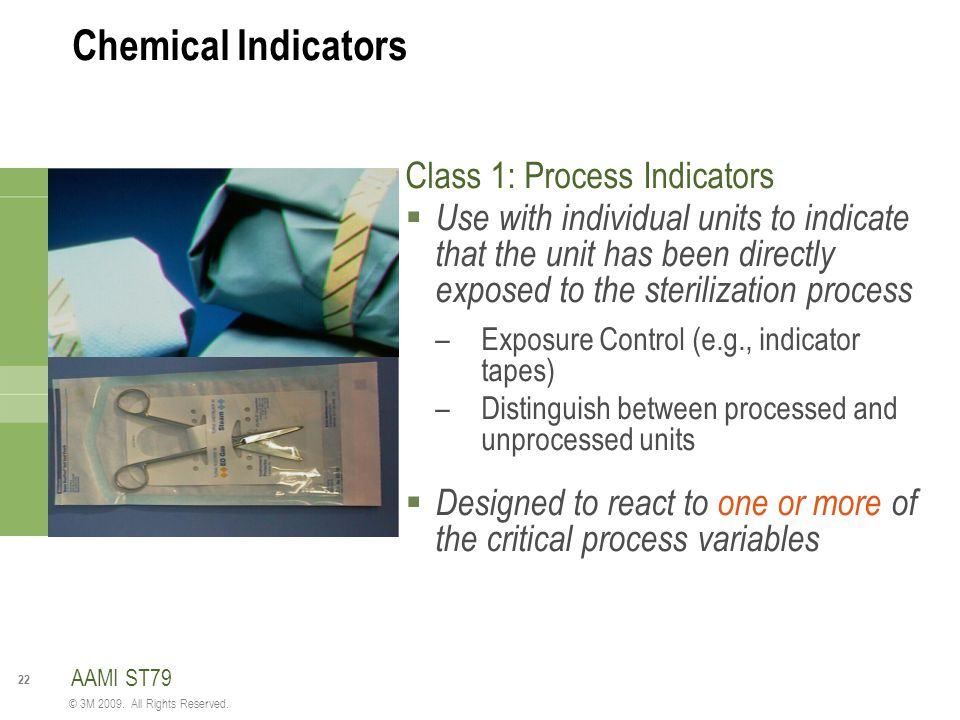 Chemical Indicators Class 1: Process Indicators