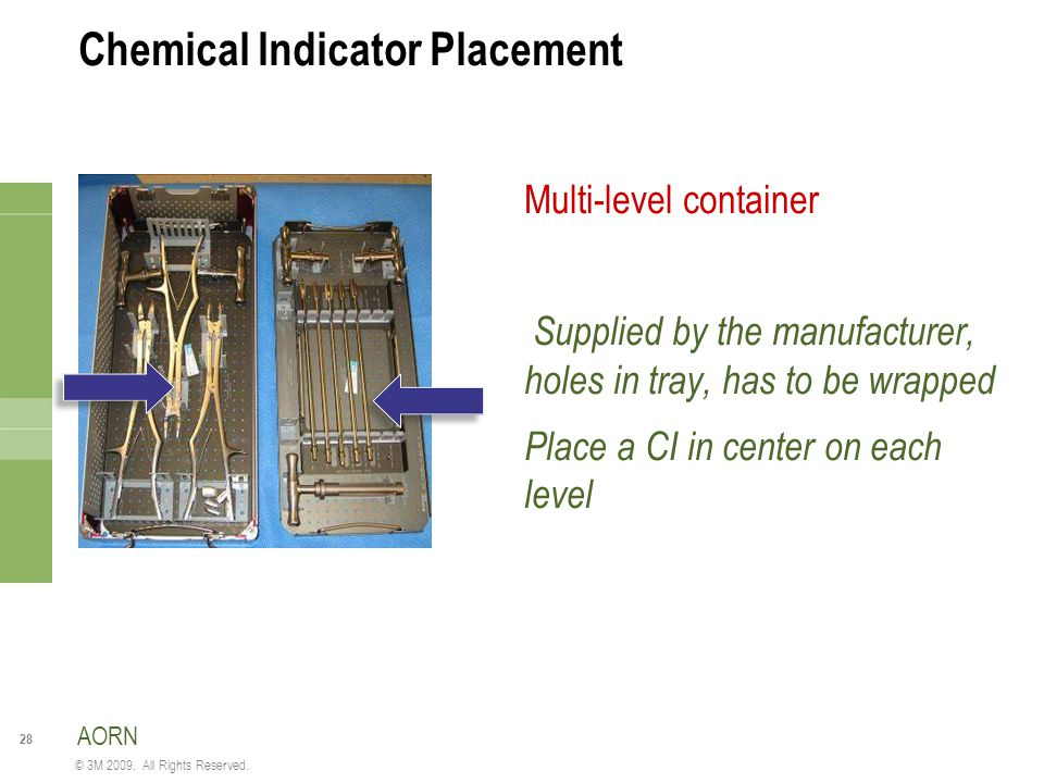 Chemical Indicator Placement