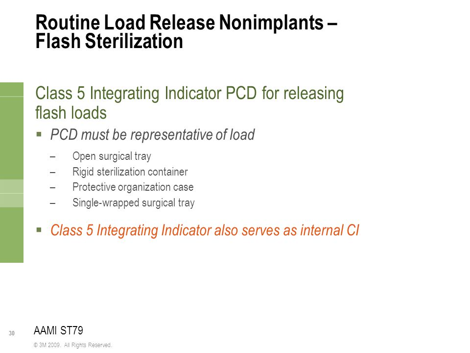 Routine Load Release Nonimplants – Flash Sterilization
