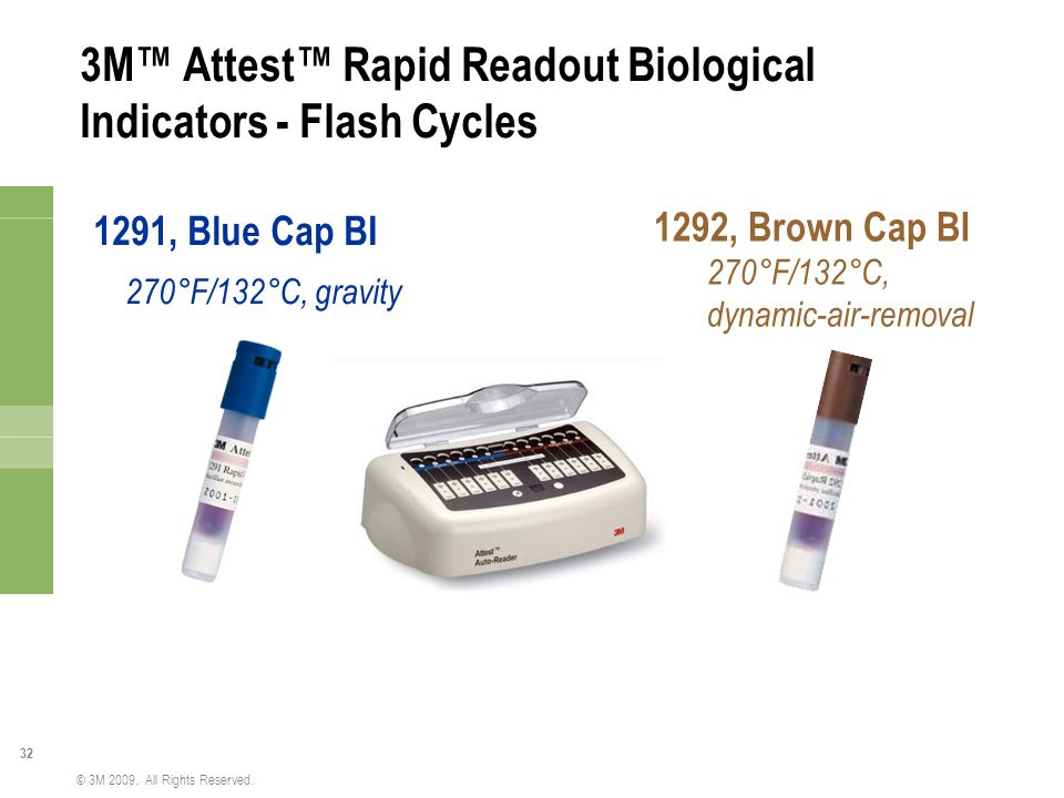 3M™ Attest™ Rapid Readout Biological Indicators - Flash Cycles