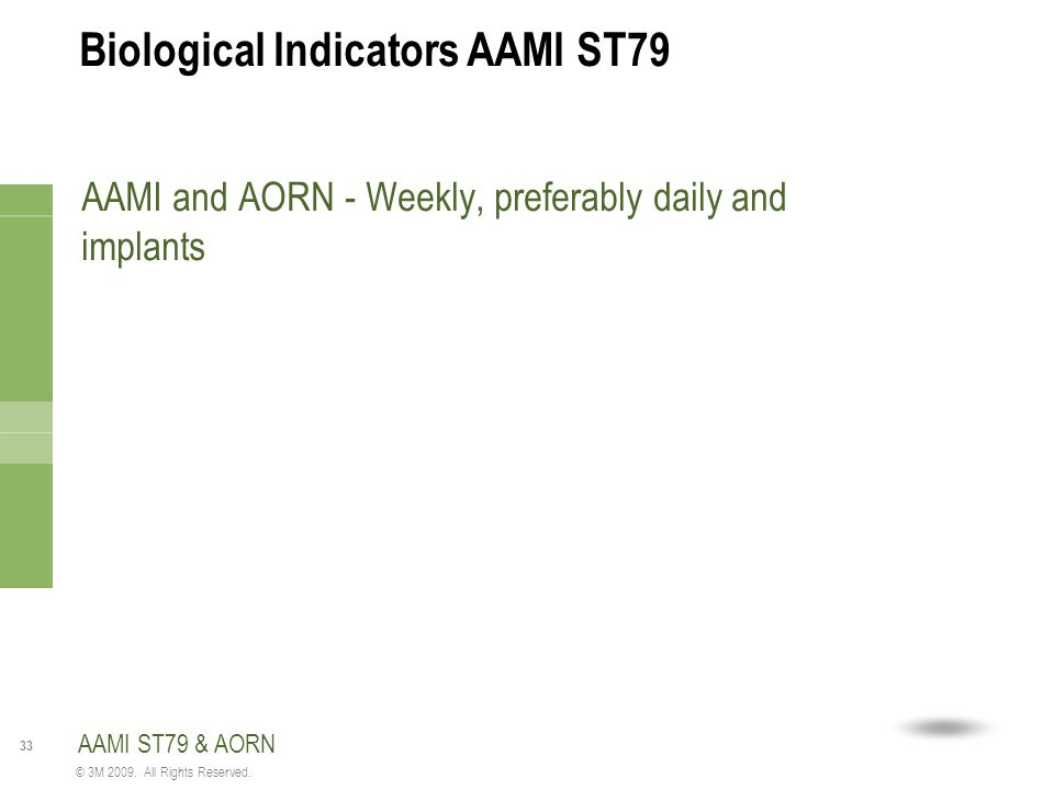 Biological Indicators AAMI ST79