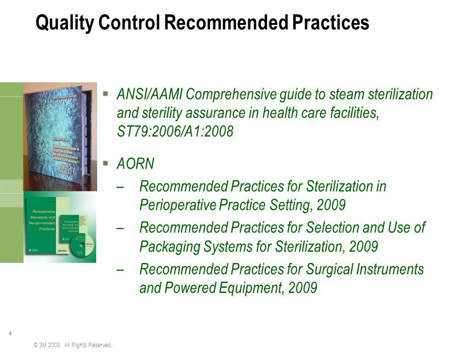 Quality Control Recommended Practices