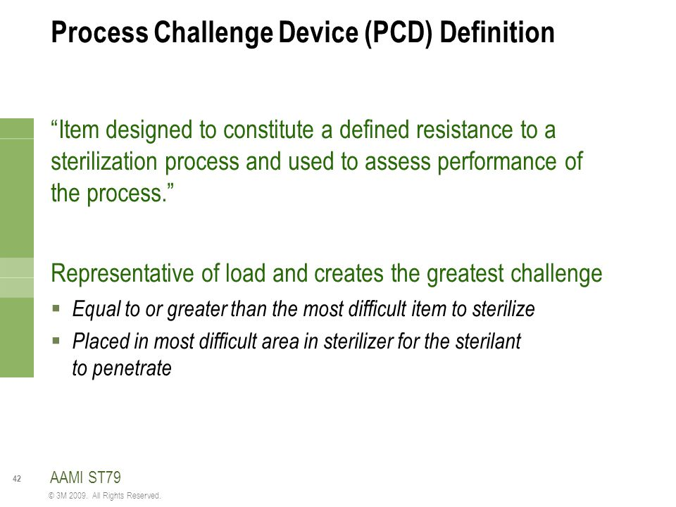 Process Challenge Device (PCD) Definition