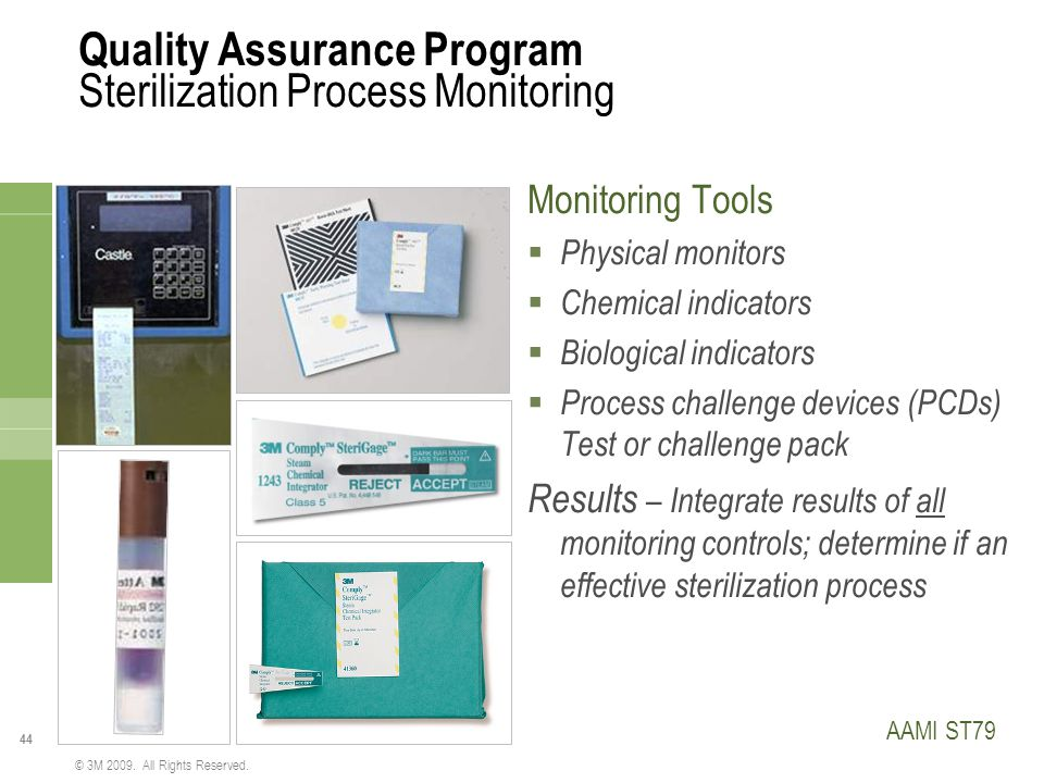 Quality Assurance Program Sterilization Process Monitoring