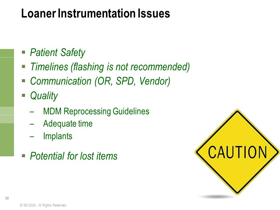 Loaner Instrumentation Issues