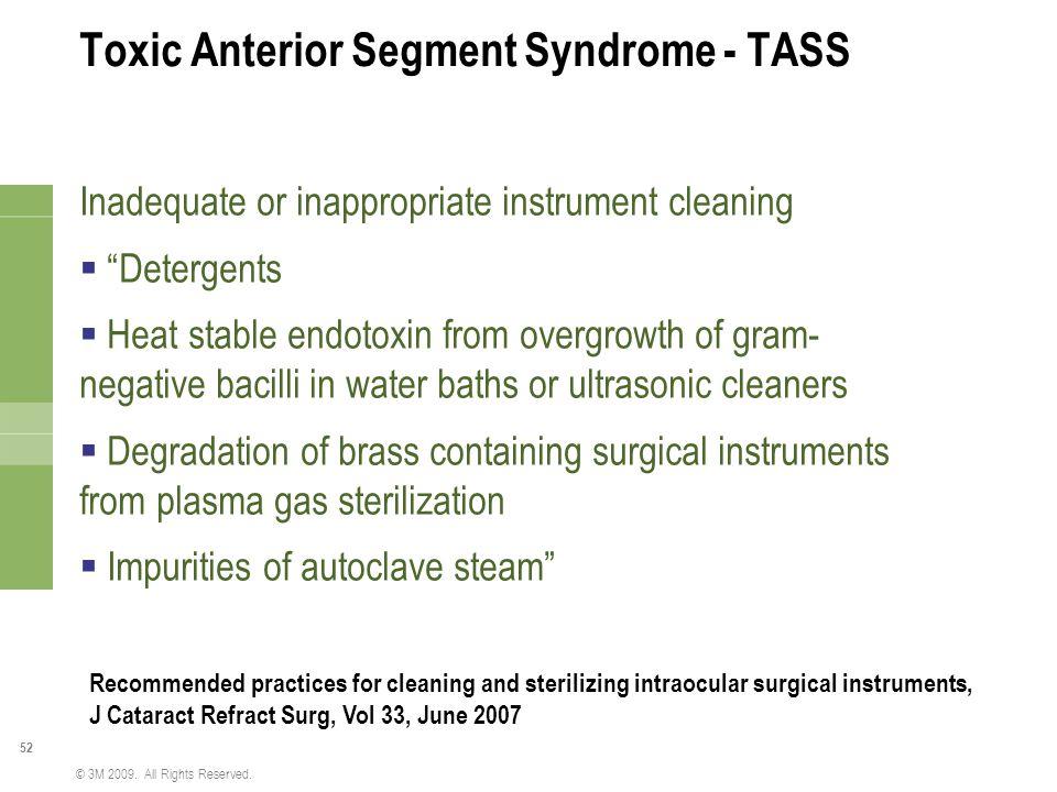 Toxic Anterior Segment Syndrome - TASS