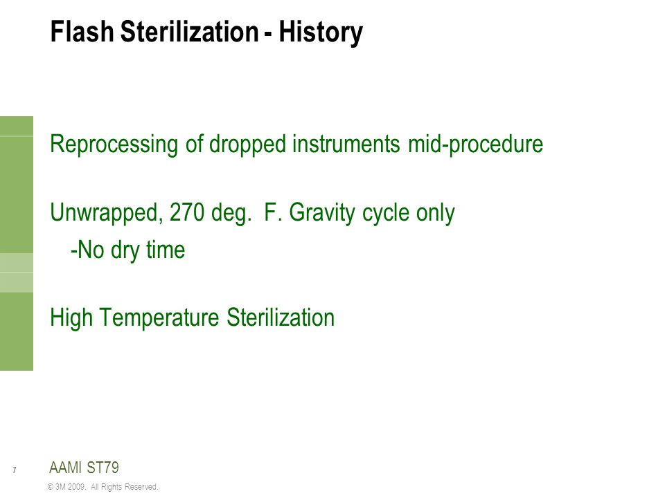 Flash Sterilization - History