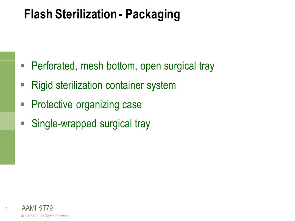 Flash Sterilization - Packaging