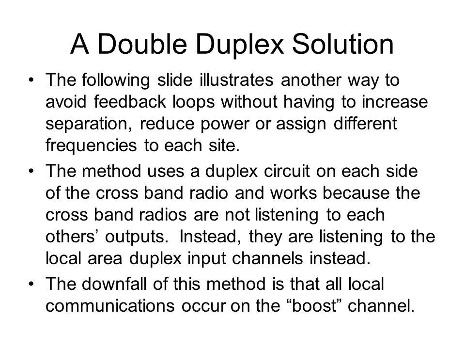 A Double Duplex Solution