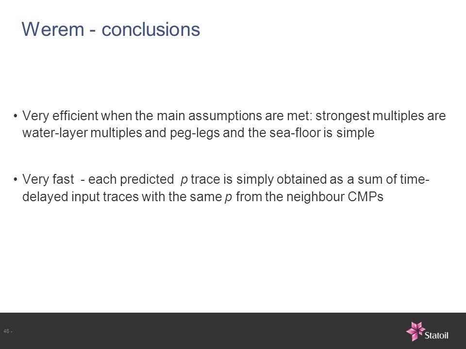 Werem - conclusions