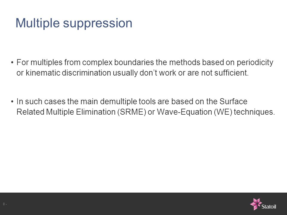 Multiple suppression
