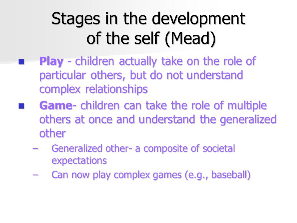 Stages in the development of the self (Mead)