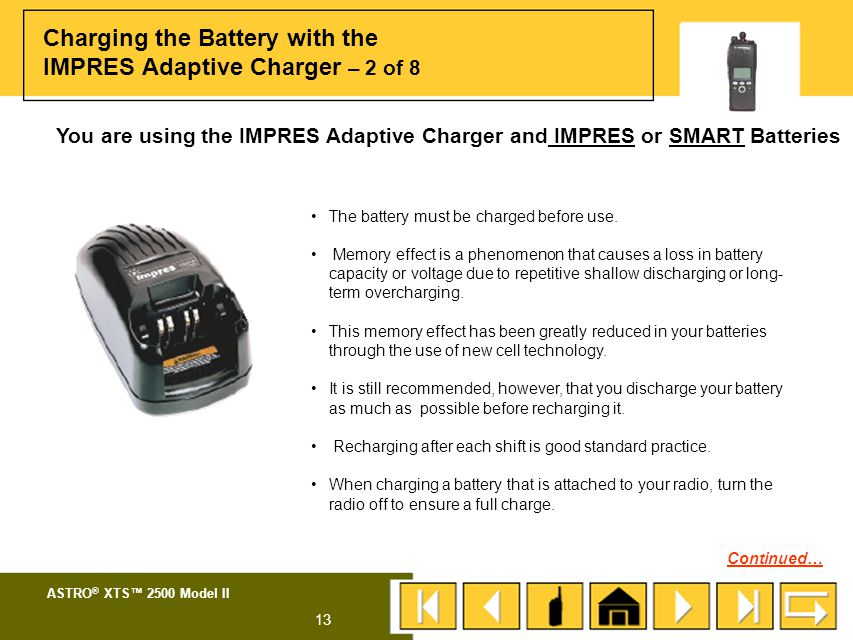 Charging the Battery with the IMPRES Adaptive Charger – 2 of 8