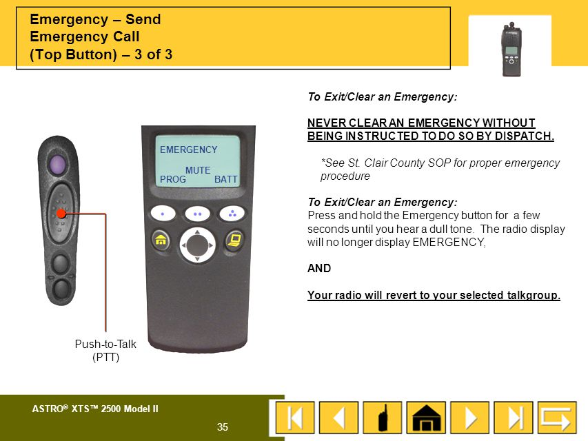 Emergency – Send Emergency Call (Top Button) – 3 of 3