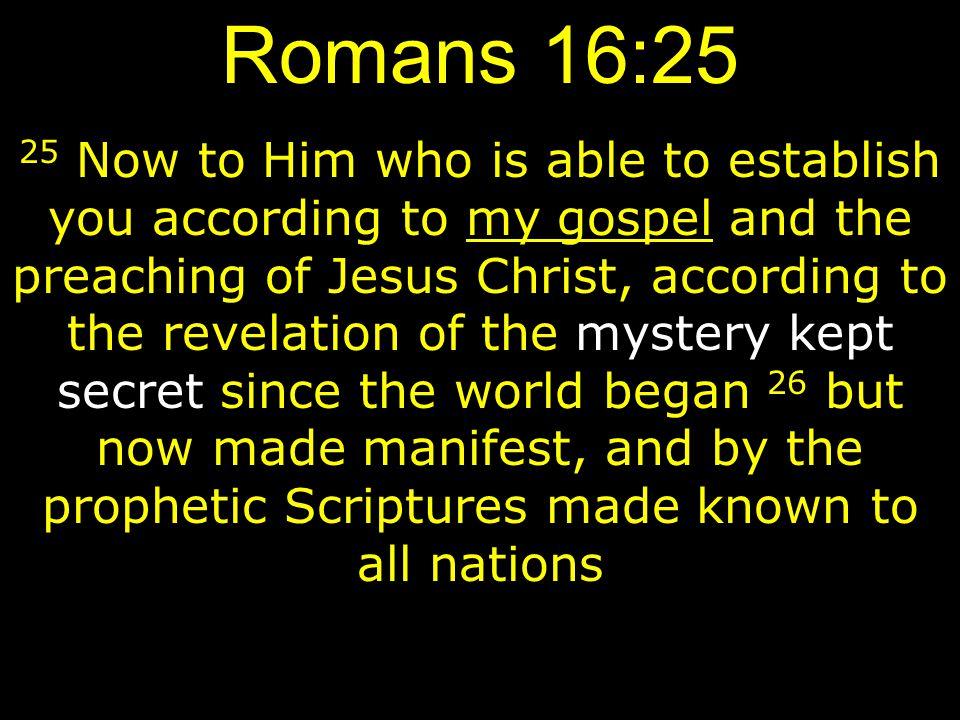 Romans 16:25