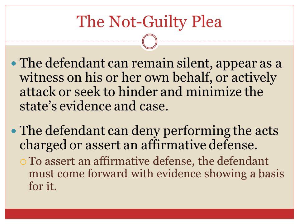 The Not-Guilty Plea