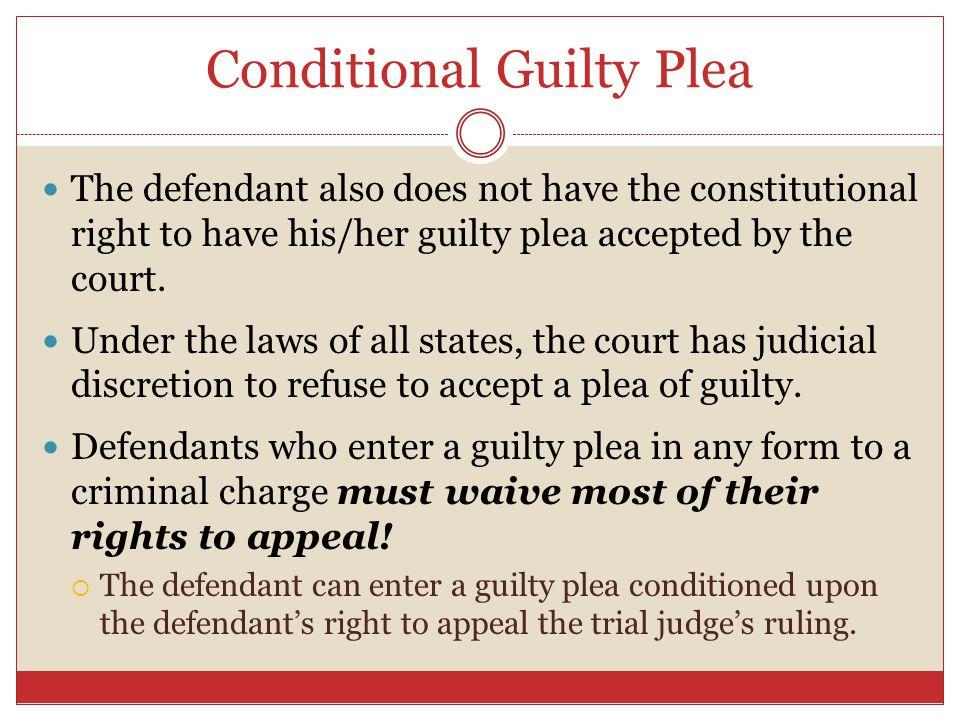 Conditional Guilty Plea