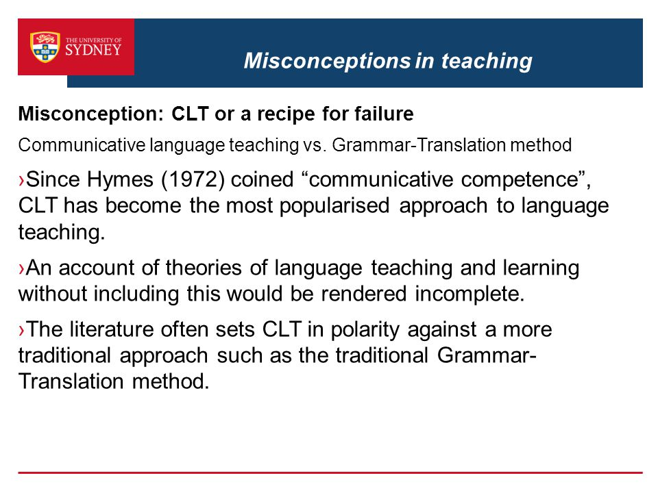 Misconceptions in teaching
