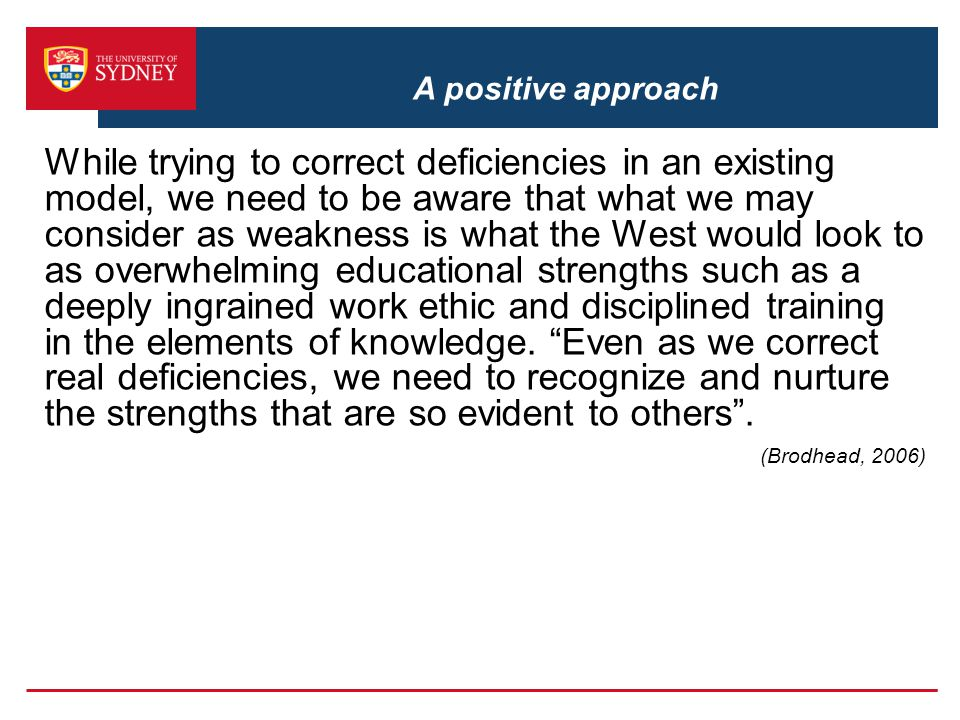 A positive approach
