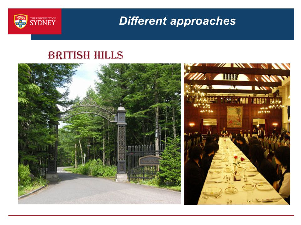 Different approaches British Hills