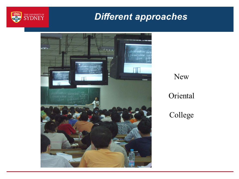 Different approaches New Oriental College