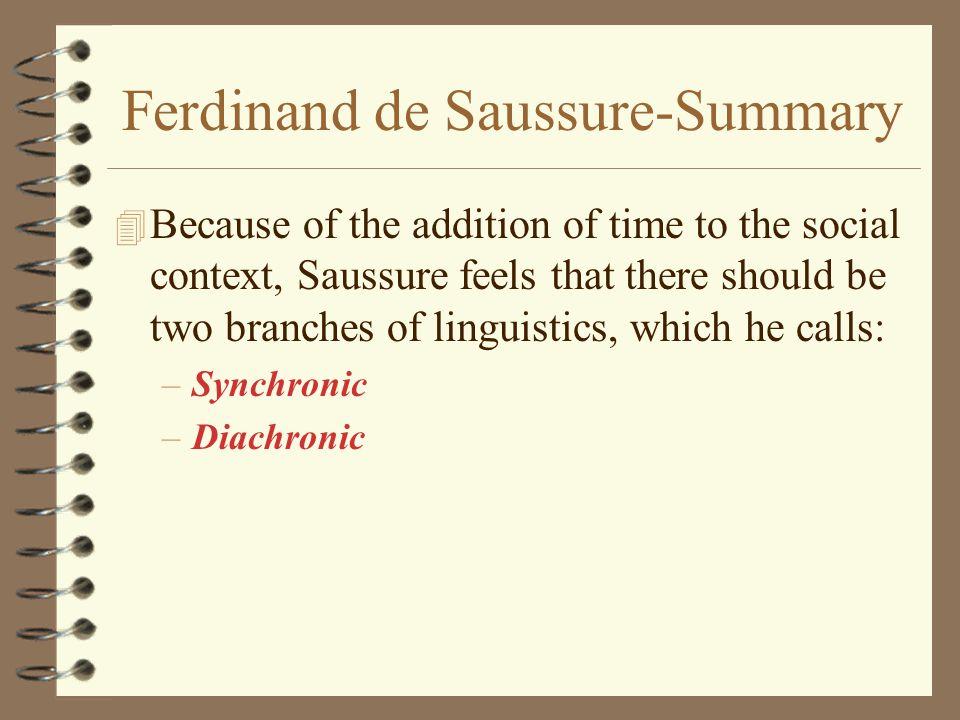 Ferdinand de Saussure-Summary