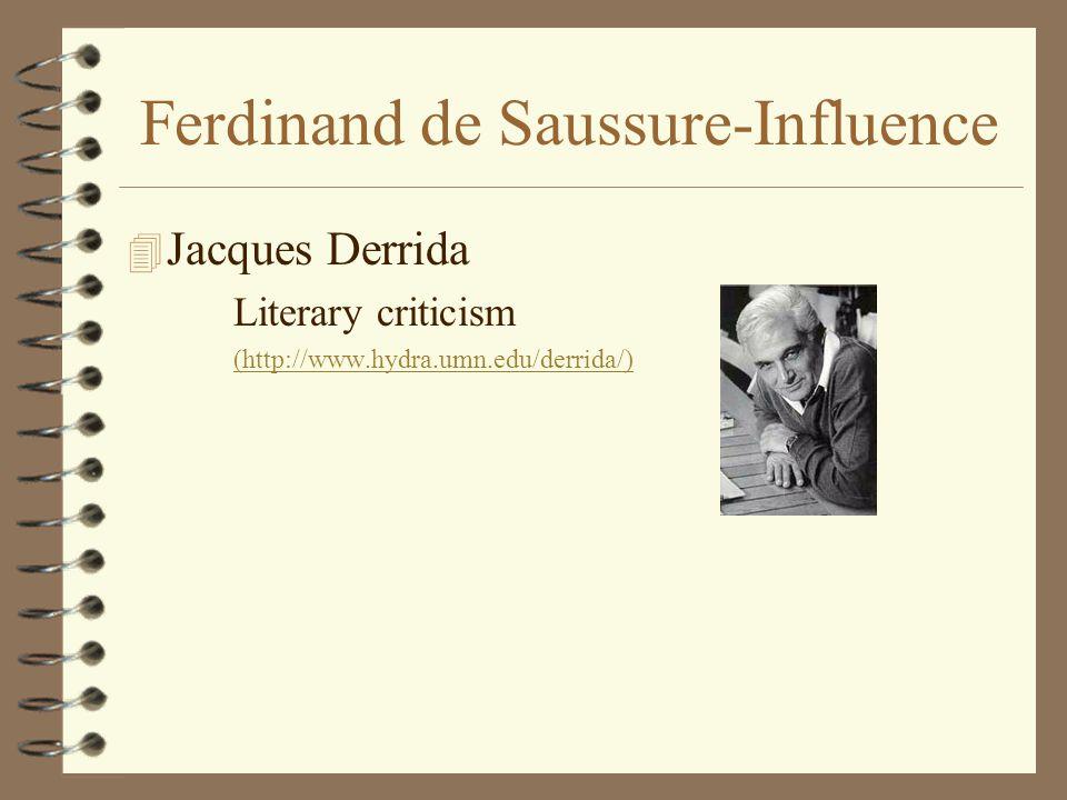 Ferdinand de Saussure-Influence